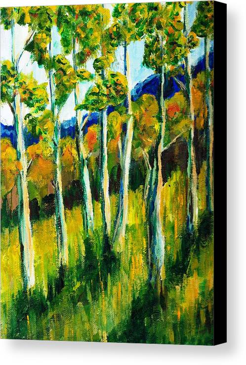 Aspen Canvas Print featuring the painting Aspen Highlands by Randy Sprout