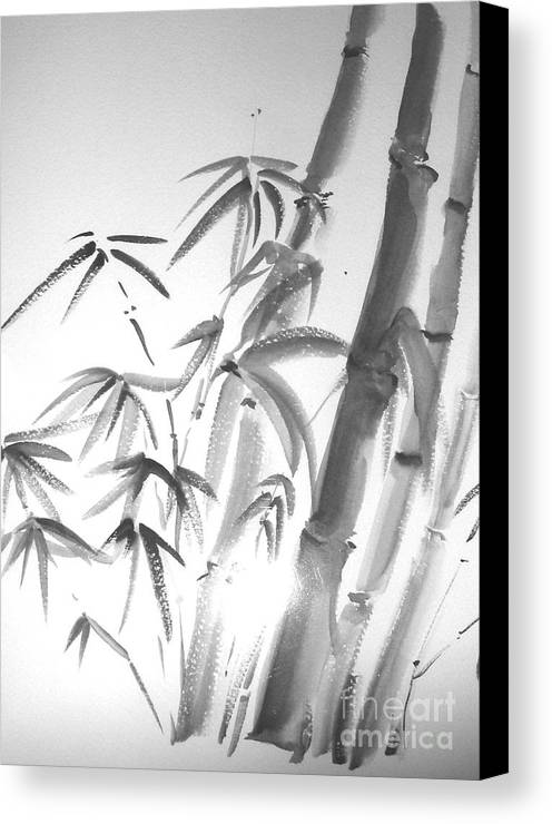 Sumi -e Canvas Print featuring the painting Bamboo 2 by Sibby S