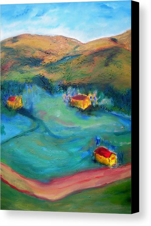 Landscape Canvas Print featuring the painting Beit Shemesh by Suzanne Udell Levinger