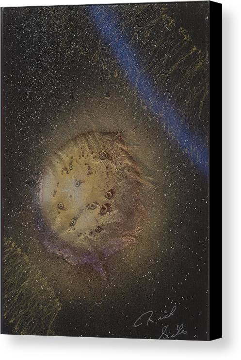 Glass Canvas Print featuring the painting Beyond by Rick Silas