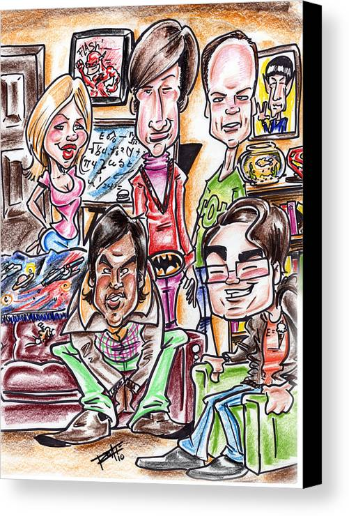 Big Bang Theory Canvas Print featuring the drawing Big Bang Theory by Big Mike Roate