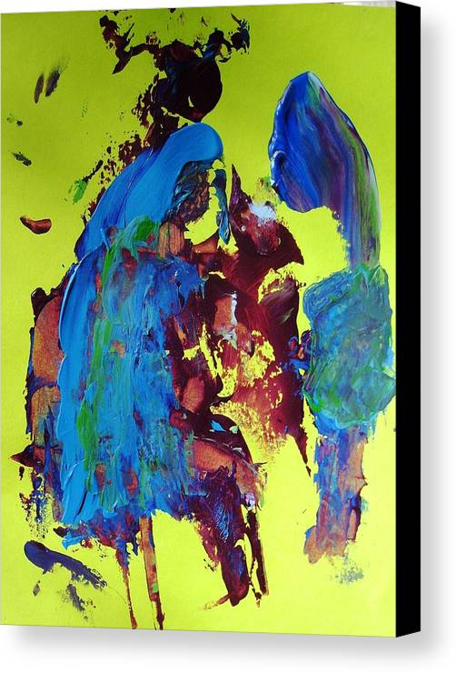 Abstract Canvas Print featuring the painting Blue Note by Bruce Combs - REACH BEYOND