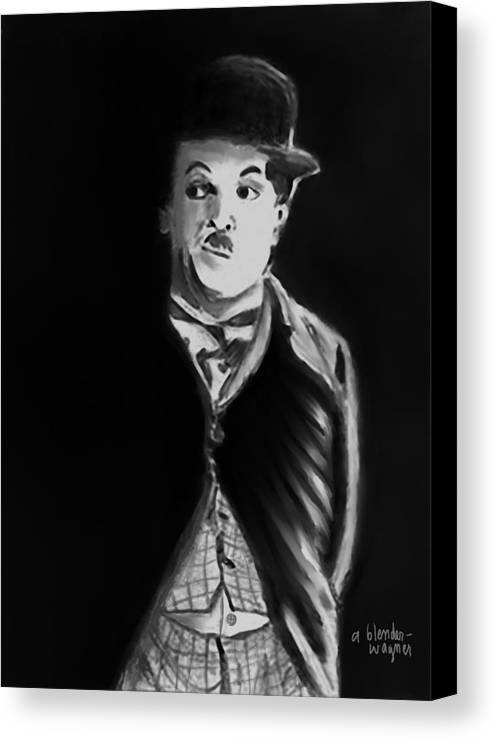 Charlie Chaplin Canvas Print featuring the digital art Charlie by Arline Wagner