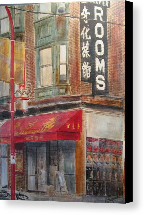 Rooming House Canvas Print featuring the painting Chinatown 1 by Victoria Heryet