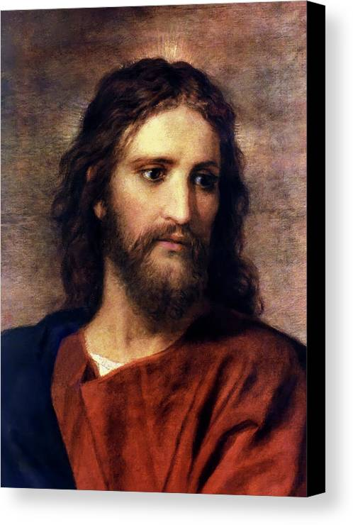 Jesus Prints Canvas Print featuring the painting Christ At 33 by Heinrich Hofmann