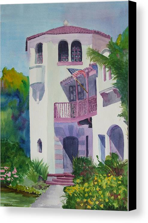 Coronado Canvas Print featuring the painting Coronado Lady by Ally Benbrook