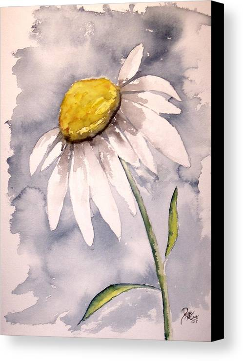 Daisy Canvas Print featuring the painting Daisy Modern Poster Print Fine Art by Derek Mccrea