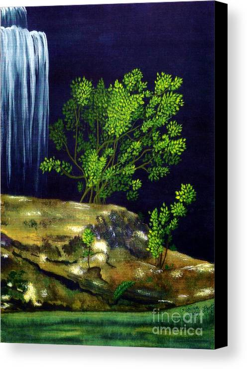 Fine Art Canvas Print featuring the painting Dark Waters by Patricia Griffin Brett