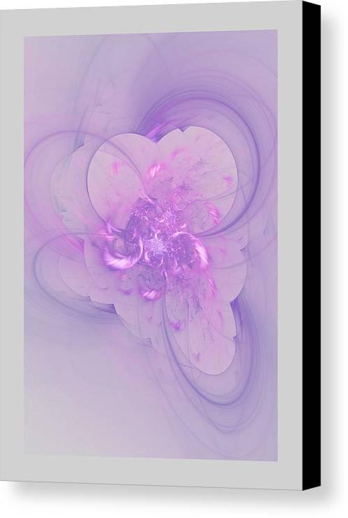 Fractal Canvas Print featuring the digital art Dash by John Pirillo