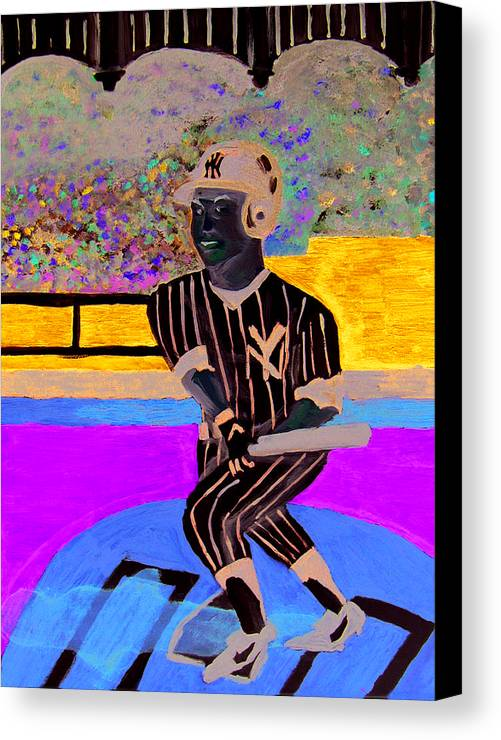 Derek Jeter Canvas Print featuring the painting Derek Jeter by Jeff Caturano