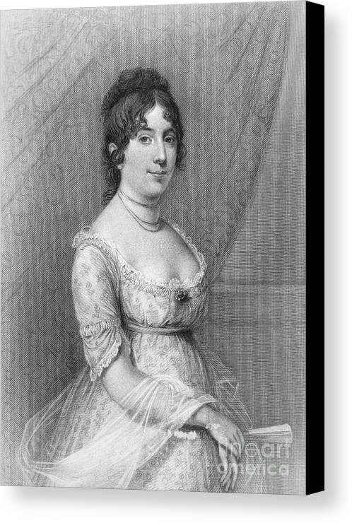 19th Century Canvas Print featuring the photograph Dolley Madison (1768-1849) by Granger