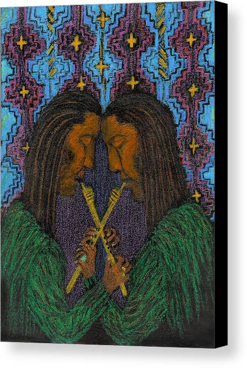 Music From The Soul Canvas Print featuring the painting Duo Gebo by Ingrid Szabo