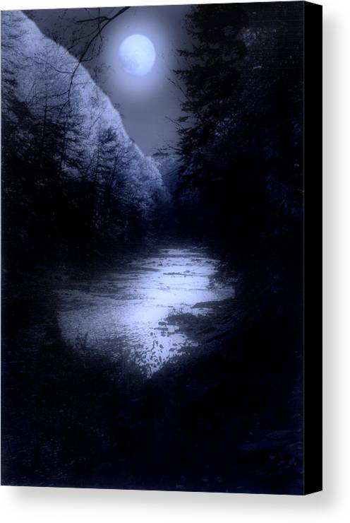 Moon Canvas Print featuring the photograph Eerie Tranquility by Kenneth Krolikowski
