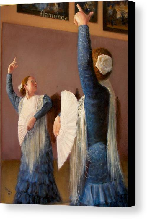 Realism Canvas Print featuring the painting Flamenco 6 by Donelli DiMaria