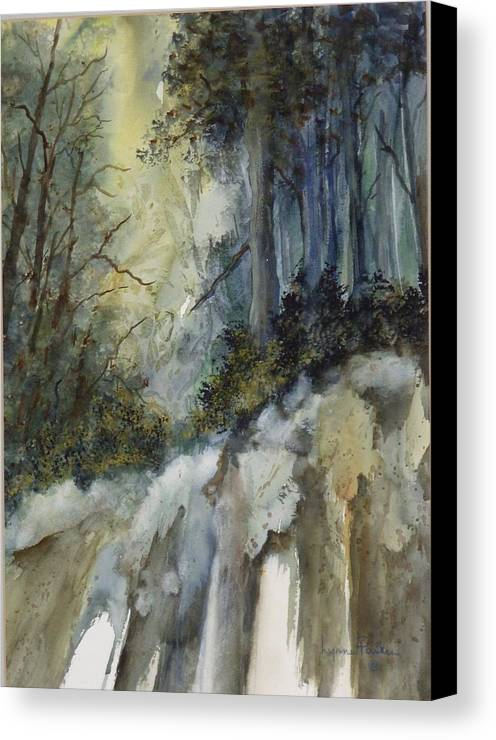 Secenic Forest Canvas Print featuring the painting Forest Unknown by Lynne Parker