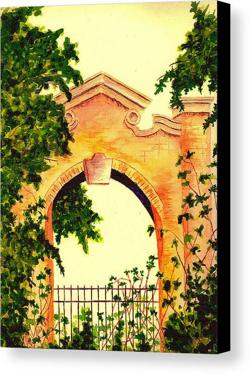 Garden Canvas Print featuring the painting Garden Scene by Michael Vigliotti
