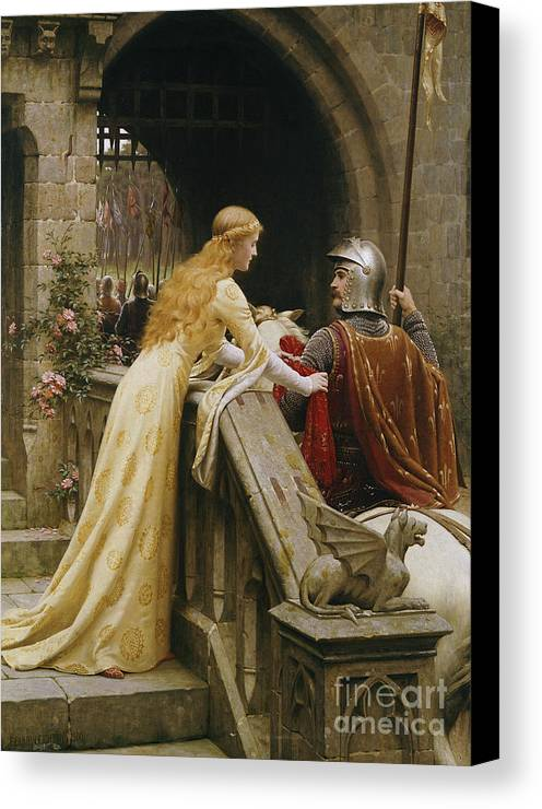 God Speed Canvas Print featuring the painting God Speed by Edmund Blair Leighton