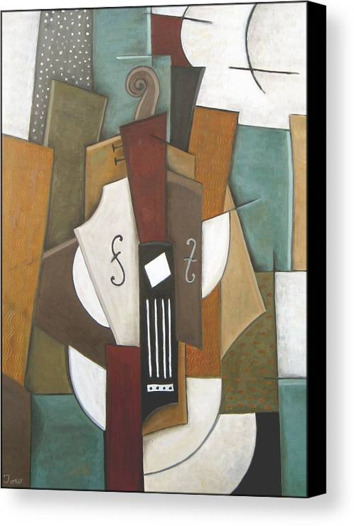 Cubism Canvas Print featuring the painting Impromptu by Trish Toro