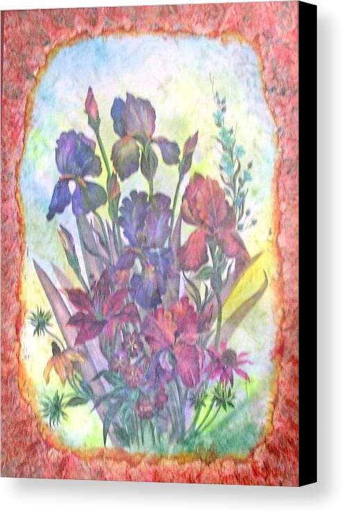 Floral Canvas Print featuring the mixed media Itallian Garden by John Vandebrooke