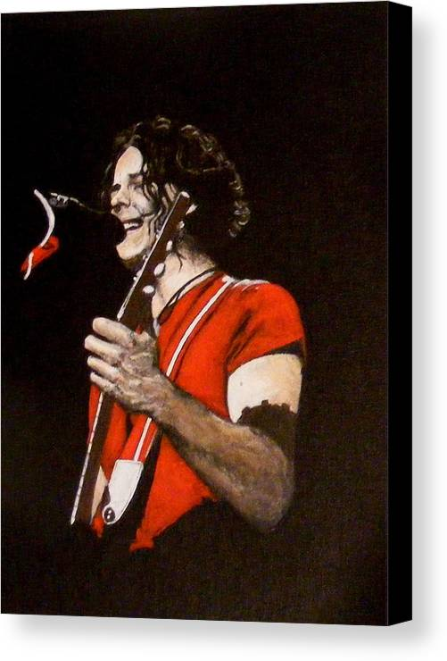 Jack White Canvas Print featuring the painting Jack White by Luke Morrison