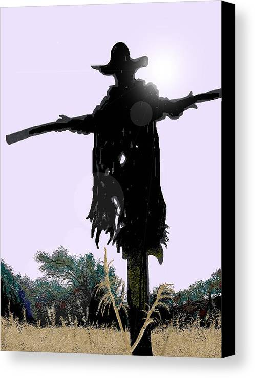Jeepers Creepers Canvas Print featuring the digital art Jeepers Creepers by Kim Souza