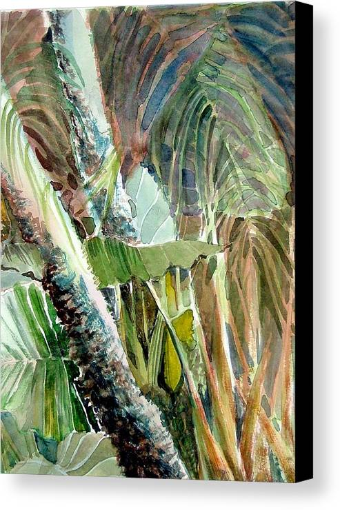 Palm Tree Canvas Print featuring the painting Jungle Light by Mindy Newman