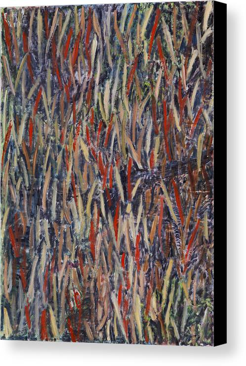 Abstract Landscape Aboriginal Australia Canvas Print featuring the painting Kimberlylove by Joan De Bot