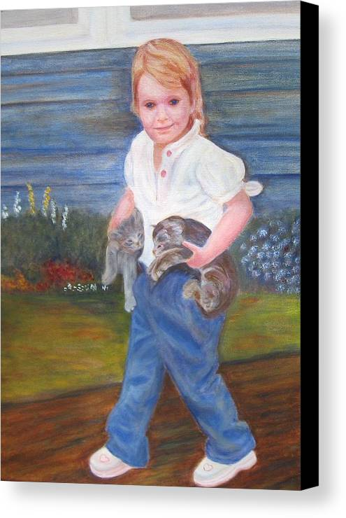 Child Canvas Print featuring the painting Leah by Patricia Ortman