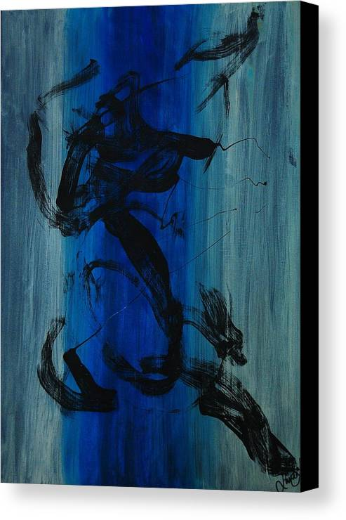 Acrylic Canvas Print featuring the painting Leap Of Love by Lauren Luna