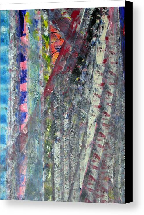 Abstract Canvas Print featuring the painting Left Blue by Russell Simmons