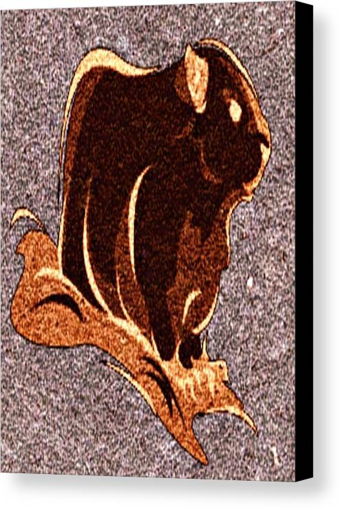 Groundhog Canvas Print featuring the digital art Looking At You by Devorah Fraser