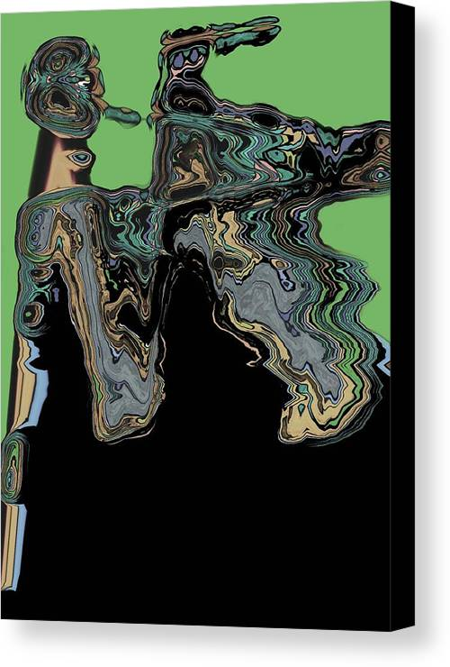 Abstract Canvas Print featuring the digital art Man Woman by LeeAnn Alexander