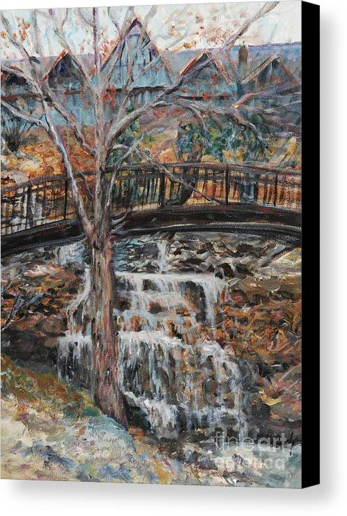 Waterfalls Canvas Print featuring the painting Memories by Nadine Rippelmeyer