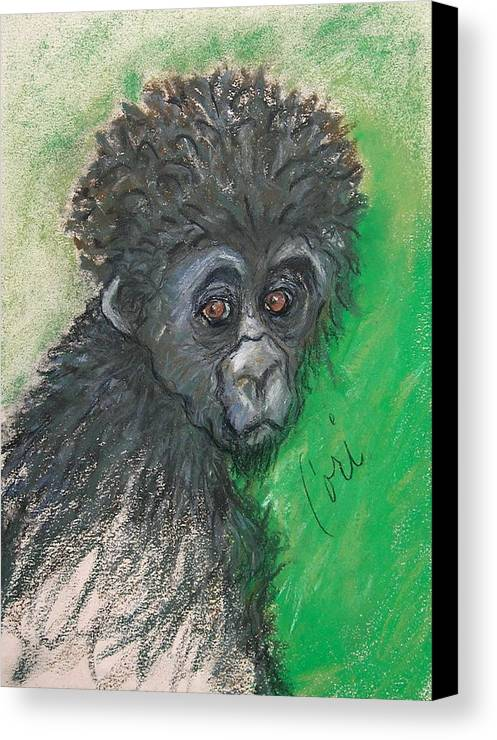 Monkey Canvas Print featuring the drawing Monkey Business by Cori Solomon
