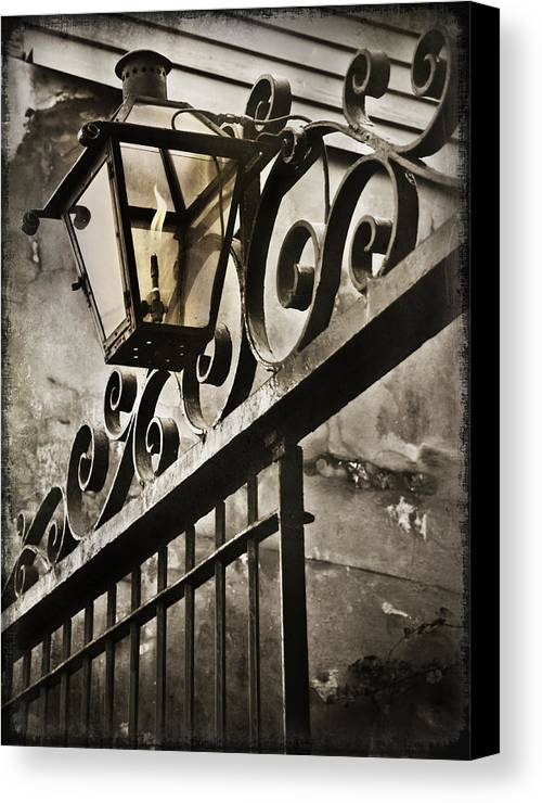 Louisiana Canvas Print featuring the photograph New Orleans Gaslight by Beth Riser