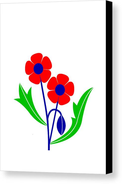 Poppy Canvas Print featuring the digital art Poppy by Asbjorn Lonvig