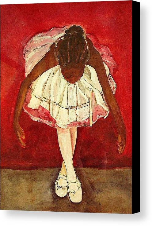Ballerina Canvas Print featuring the painting Port De Bras Forward by Amira Najah Whitfield