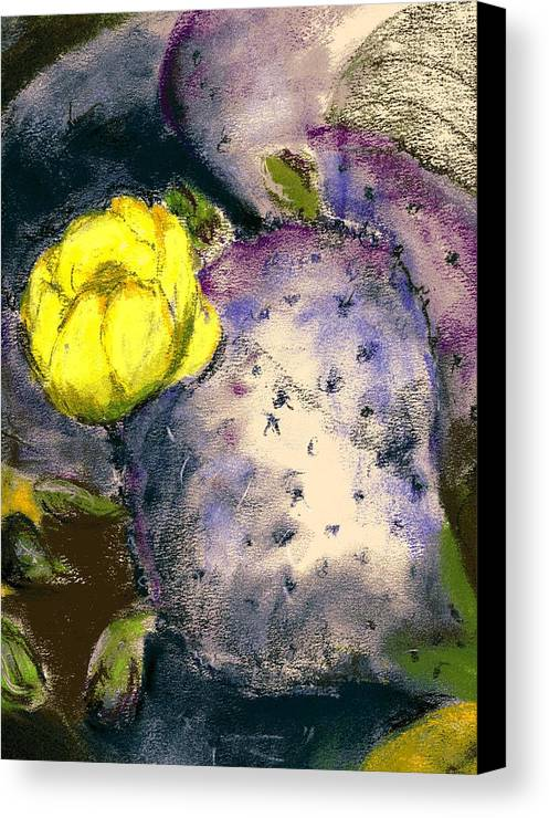 Cactus Canvas Print featuring the painting Prickly Pear by Marilyn Barton