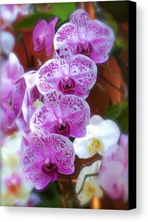 Floral Flower Purple Canvas Print featuring the photograph Purple Flower by Ralph Liebstein