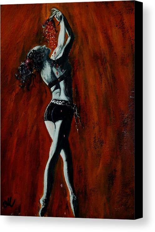 Woman Canvas Print featuring the painting Rhythm Of Love.. by Cristina Mihailescu