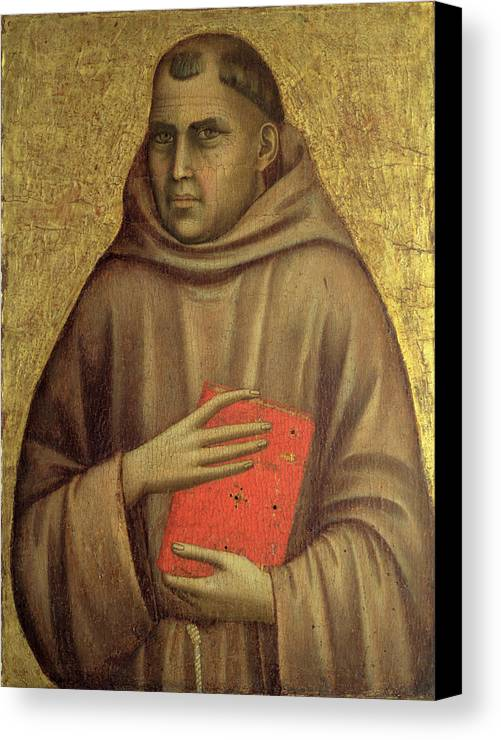 Anthony Canvas Print featuring the painting Saint Anthony Abbot by Giotto di Bondone