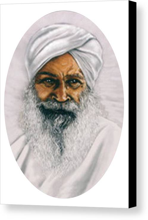 Pastels Canvas Print featuring the painting Sant Kirpal Singh by Winifred Ann Weishampel