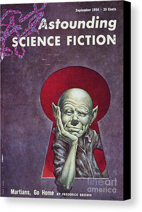 1954 Canvas Print featuring the photograph Science Fiction Cover, 1954 by Granger