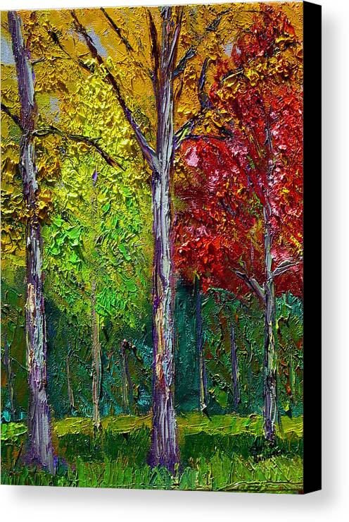 Fall Canvas Print featuring the painting Sewp Fall by Stan Hamilton