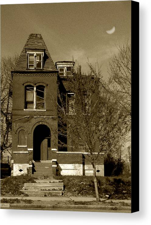 House Canvas Print featuring the photograph Shadow House by Lenora Stewart