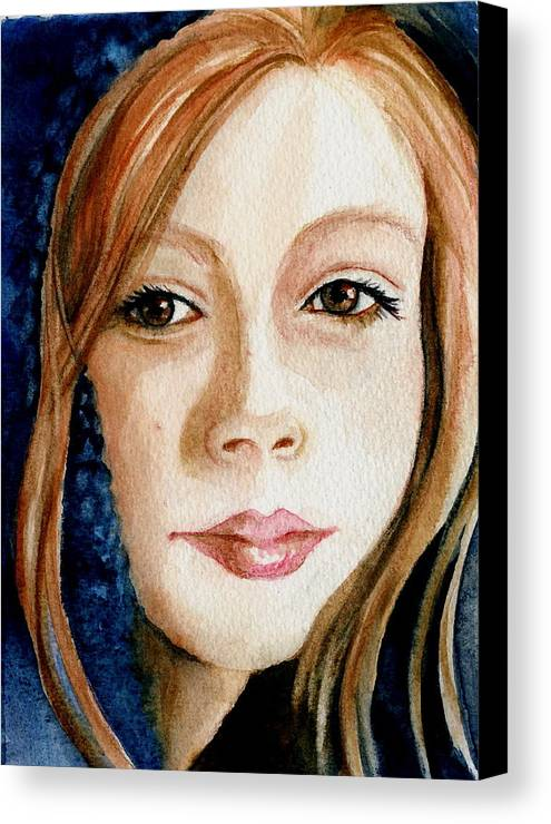 Portrait Commission Canvas Print featuring the painting Shel by L Lauter