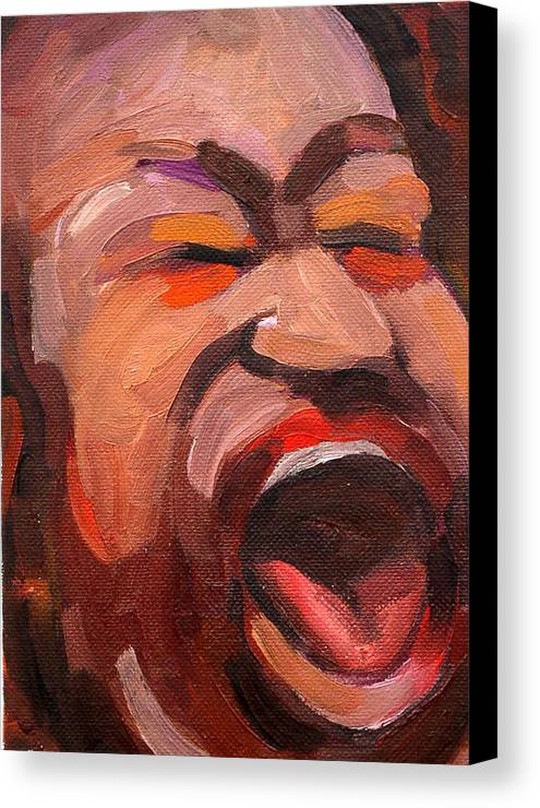 Blues Musician Canvas Print featuring the painting Shemikia Copeland by Jackie Merritt