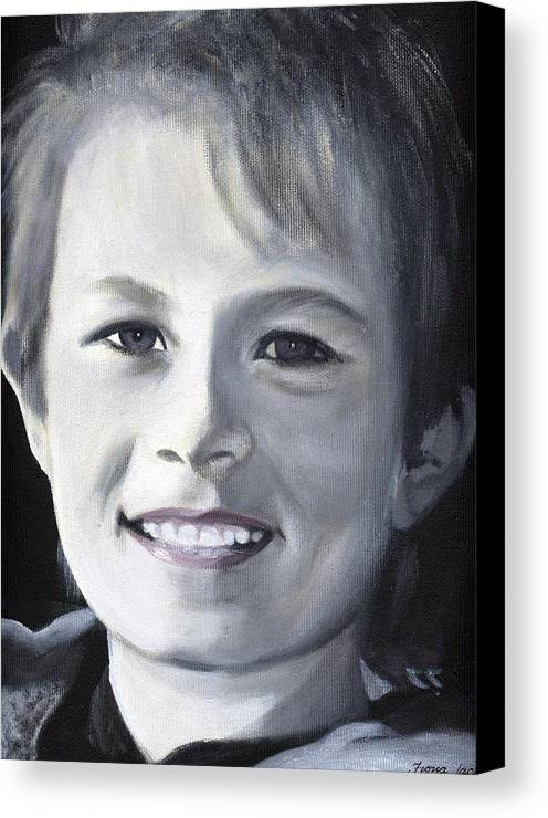 Portrait Canvas Print featuring the painting Simon by Fiona Jack