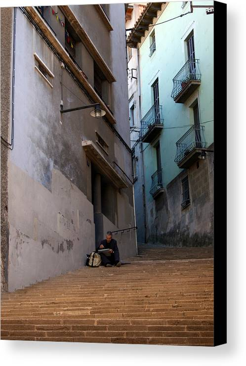 Steps Canvas Print featuring the photograph Step By Step by Jason Hochman