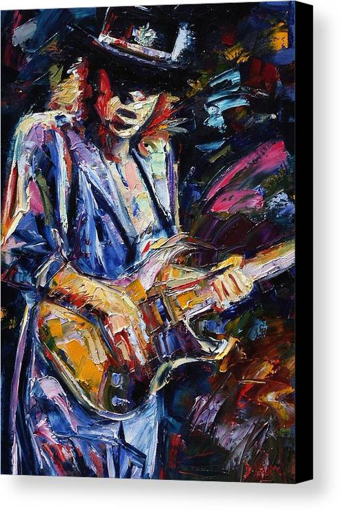 Stevie Ray Vaughan Painting Canvas Print featuring the painting Stevie Ray Vaughan by Debra Hurd